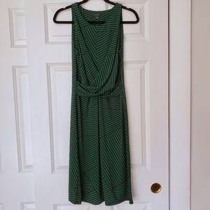 AT Green Stripe Dress